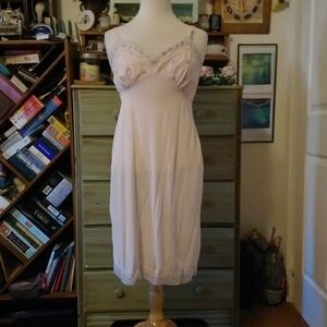 Lucky clover vintage pink slip dress, union made!